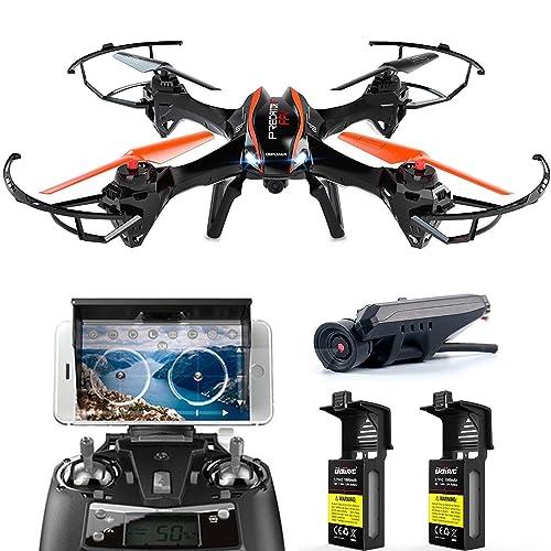 XXL RC ferngesteuerte Drohne mit Kamera 720P HD Kamera Drone Quadrocopter für Anfänger Outdoor Spielen Fliegen, Komplett-Set RTF