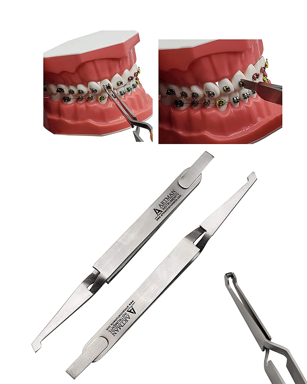 10 PCS Orthodontic Bracket Placer Self Holder Tweezers Reverse Action Tweezers from Wise Linkers USA: Industrial & Scientific
