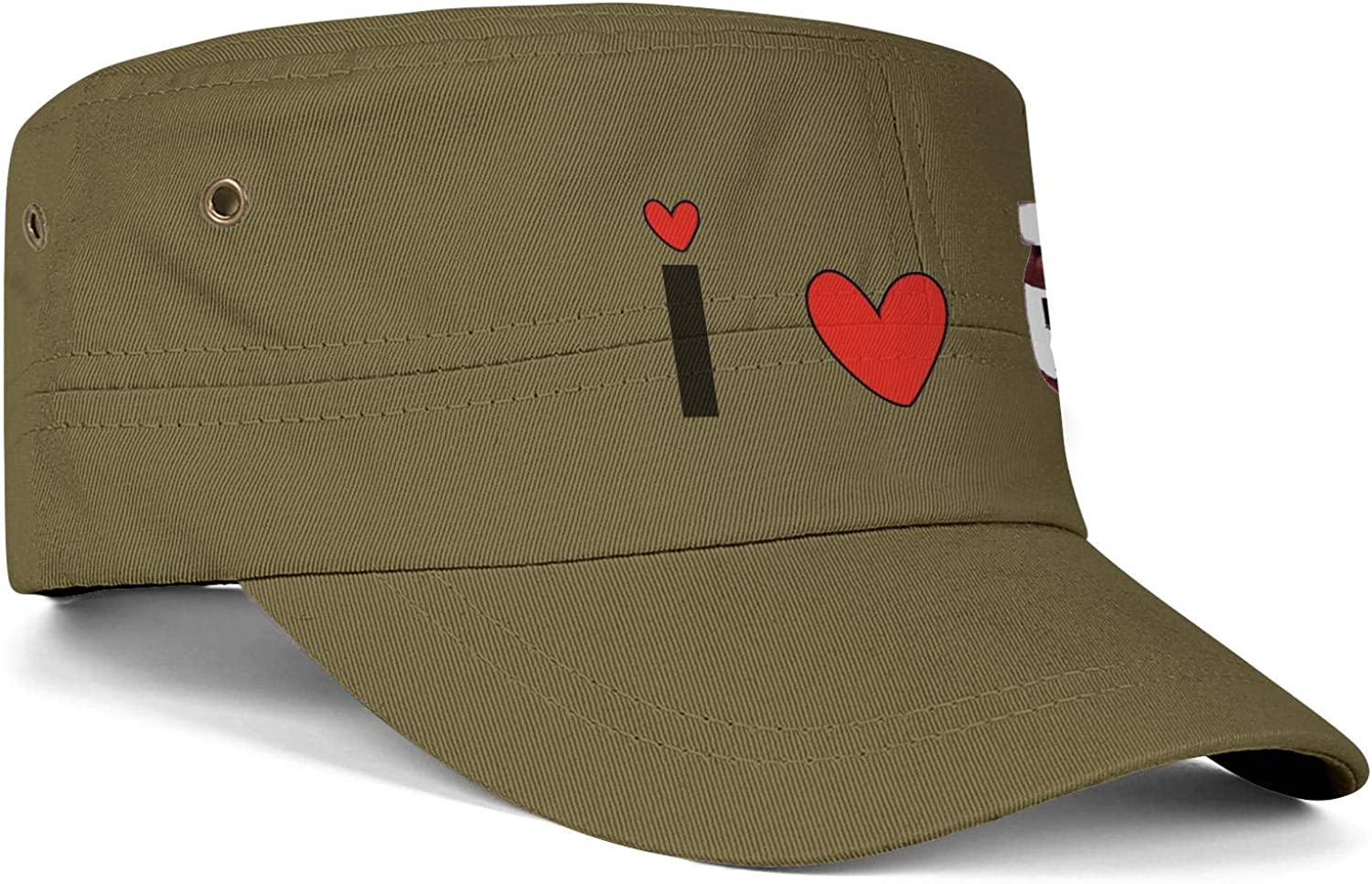 Unisex Military Hat Helicopter Cartoon Vintage Flat Top Cadet Army Caps