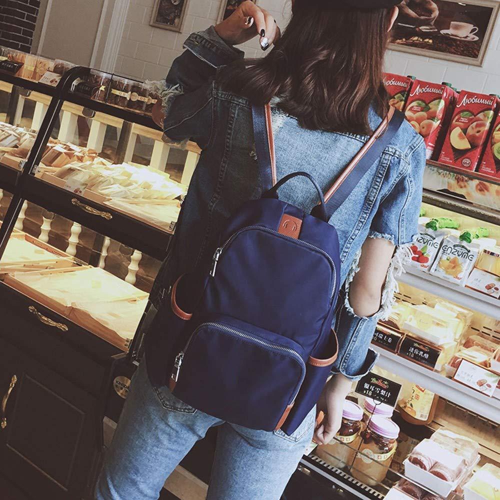 Bolso para Mujer Nylon Oxford Tela Moda para Mujer Mochila Bolsa de Viaje Mochila Panelado Interior Ranura Bolsillo Bolsa de Bordado: Amazon.es: Equipaje