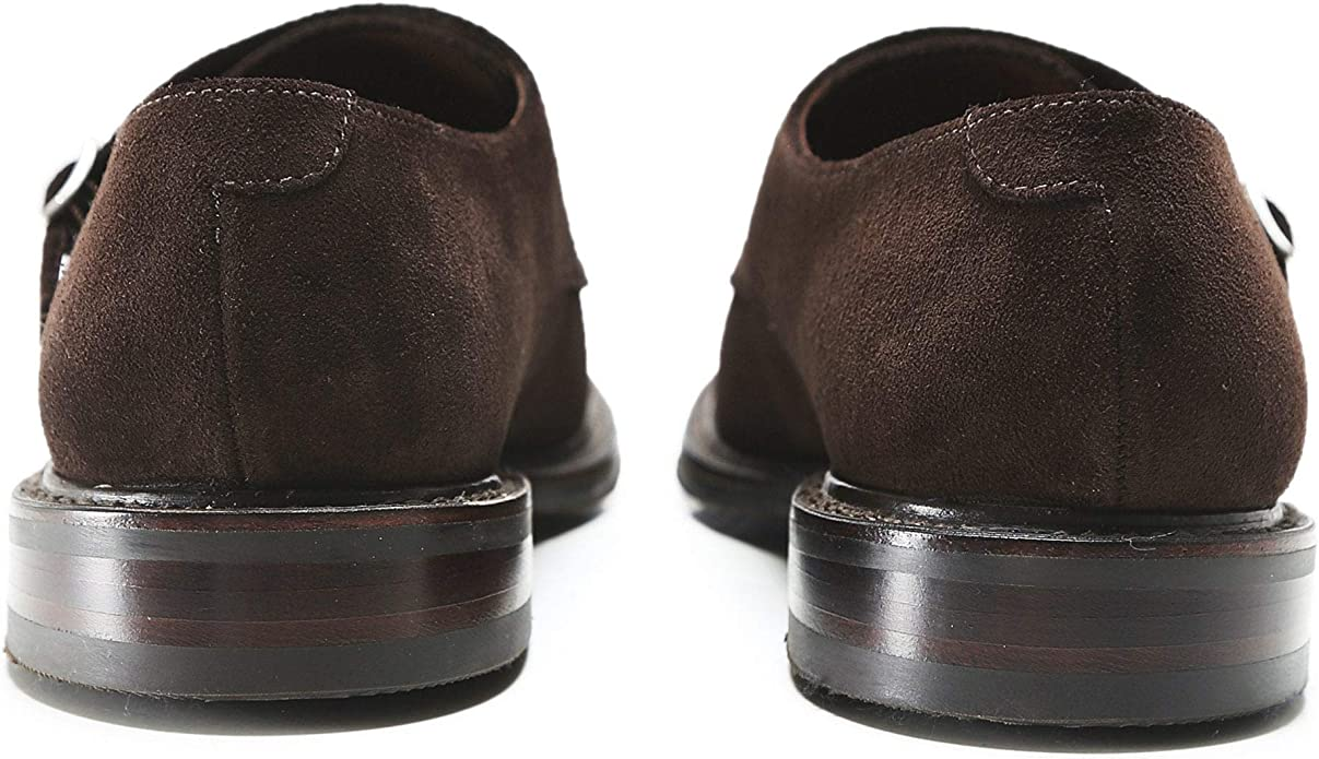 Suede Benedict Monk Strap Shoes