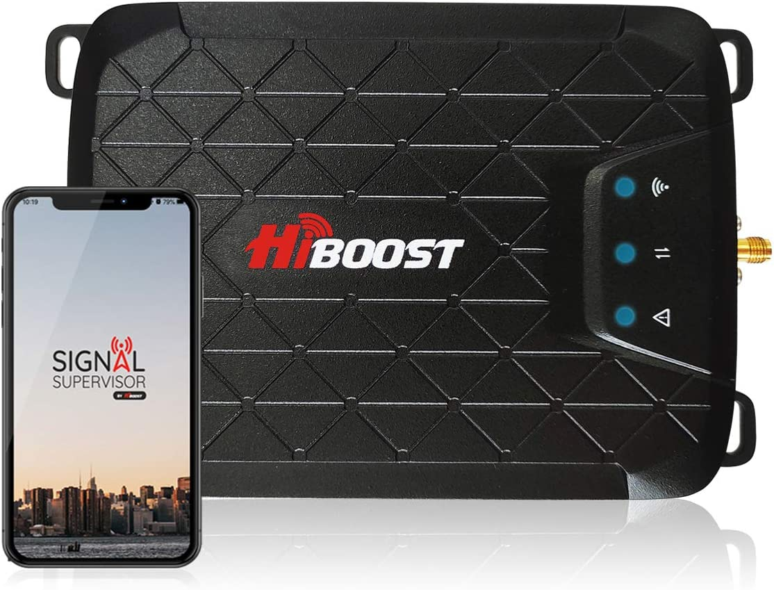 HiBoost 3-Band Cell Phone Signal Booster Up to 1,000 sq ft for Home & Office,Boosts Band 12/17/13/5, 3G 4G LTE Voice and Data for Verizon,T-Mobile, AT&T,Cellular Repeater Amplifier Kits with APP