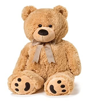 Brown Teddy Bear Machine Washable Fluffy Ted Toy Chestnut Childs Bears