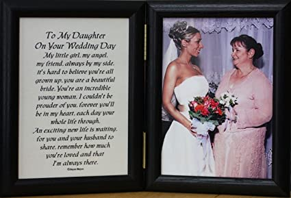 Amazon.com - 5x7 Hinged TO MY DAUGHTER ON YOUR WEDDING DAY Poem ...