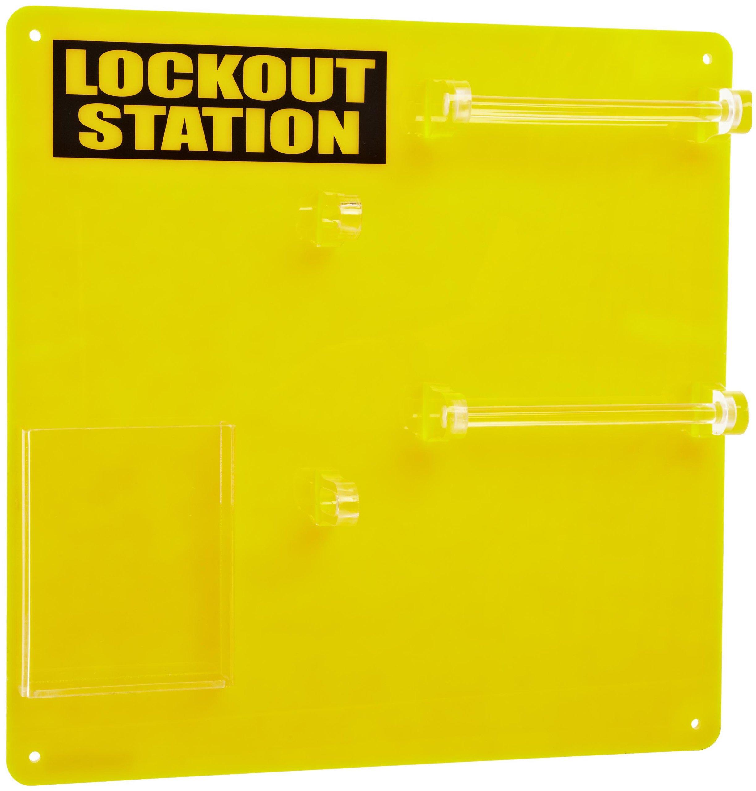 Brady Unfilled Lockout Station, 10-Padlock Capacity