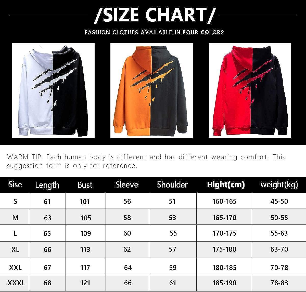 XIAOYAO Men/'s Sweatshirt Hoodies Top Blouse Tracksuits Long Sleeve Autumn Winter Casual