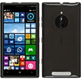 PhoneNatic - Custodia in Silicone per Nokia Lumia 830 - transparente nero
