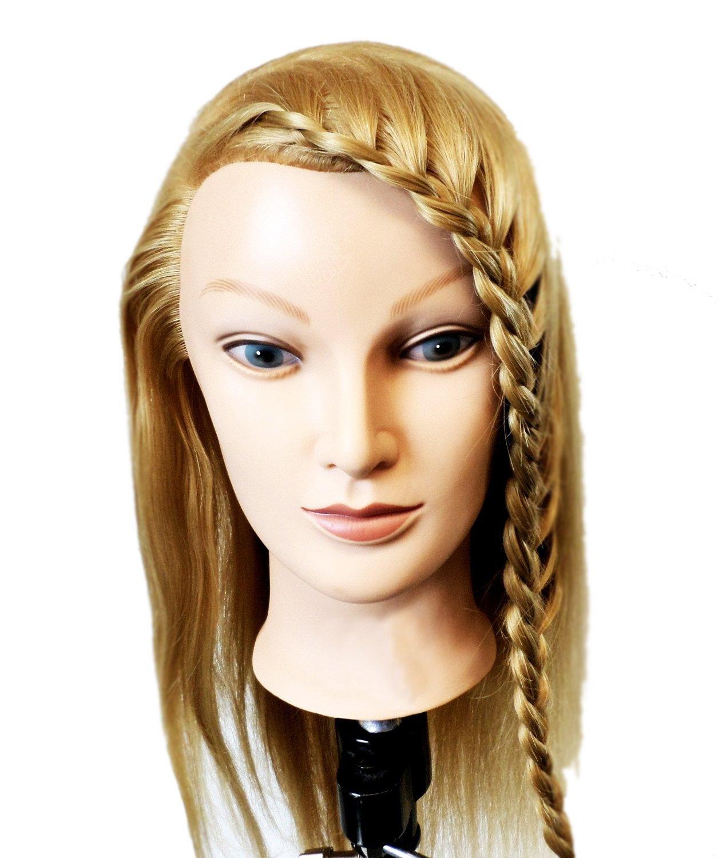 Tête de mannequin pour la formation des coiffeurs. Longs cheveux blonds. cheveux doux | Formation professionnelle des coiffeurs by CASCACAVELLE