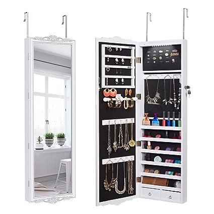 Amazon Langria 10 Leds Jewelry Cabinet Full Length Lockable