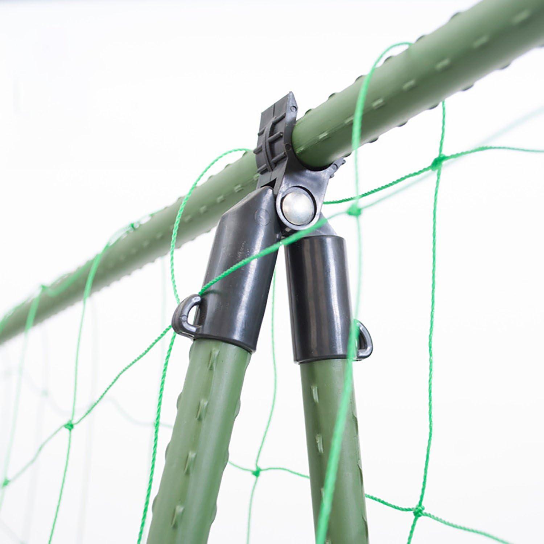 dun clip r/églable DIY Tomate Cage Treillis pour plantes Greffe Piquets connecteur pour 16/mm Plante Piquets 12-Pack A Adjustable Clip Green 12