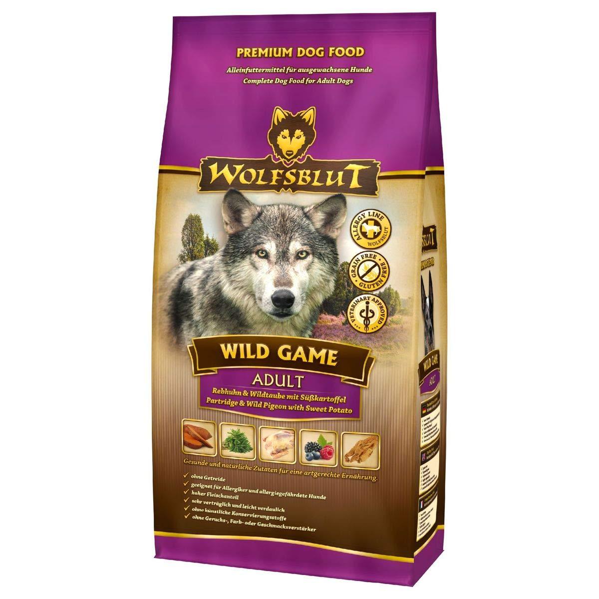 Wolf sangre Wild Game Adult para perros con perdiz, Wild Paloma y ...