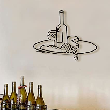 Amazon.com: Wine Tray Metal Art, Metal Bar Art, Metal Wall Art ...
