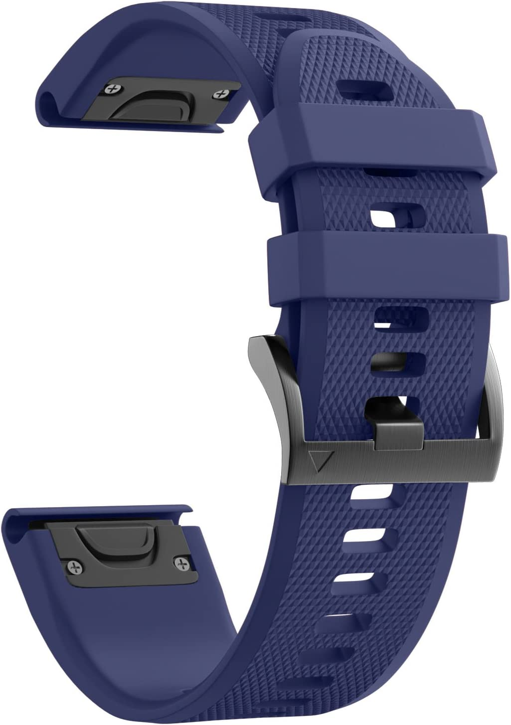 ANCOOL Compatible with Fenix 5 Band Easy Fit 22mm Width Soft Silicone Watch Strap Replacement for Fenix 5/Fenix 5 Plus/Forerunner 935/Approach S60/Quatix 5 - Dark Blue