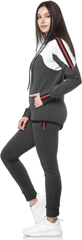 Damen Jogginganzug Jogging Jacke und Hose Sport College Fitness Sportanzug Neu
