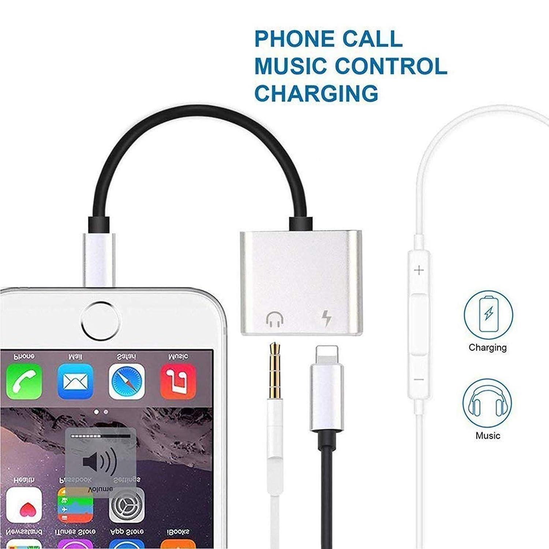 Amazon.com: Adaptador para auriculares iPhone 8/8 Plus/Xs/Xs ...