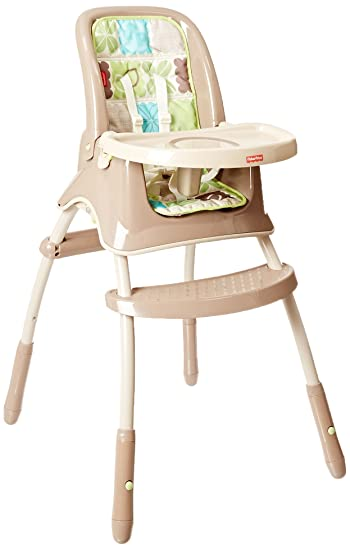 a29be43d415 Amazon.com   Fisher-Price Rainforest Friends Grow-with-Me High Chair   High  Chairs For Toddlers Convert To Booster Seat   Baby