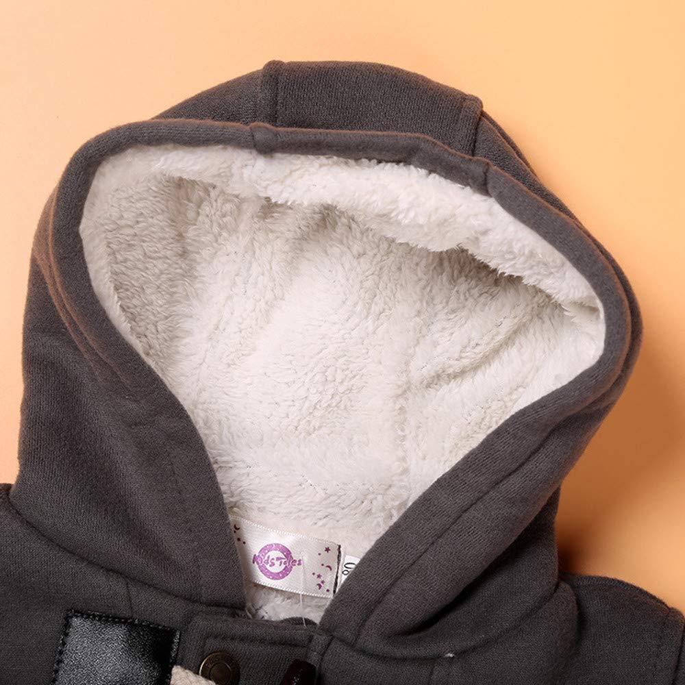 Ni/ña Ni/ño Impermeable Abrigo C/álida Chaqueta de Traje de Nieve con Capucha 0-5 a/ños ASHOP Ropa Bebe Oto/ño Invierno