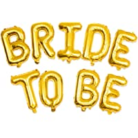 Gold Bride to Be Balloon Decorations - Bachelorette Party Decorations Glitter - Bridal Shower Decorations Supplies - Hen Party Decorations Supplies for Bridal Party