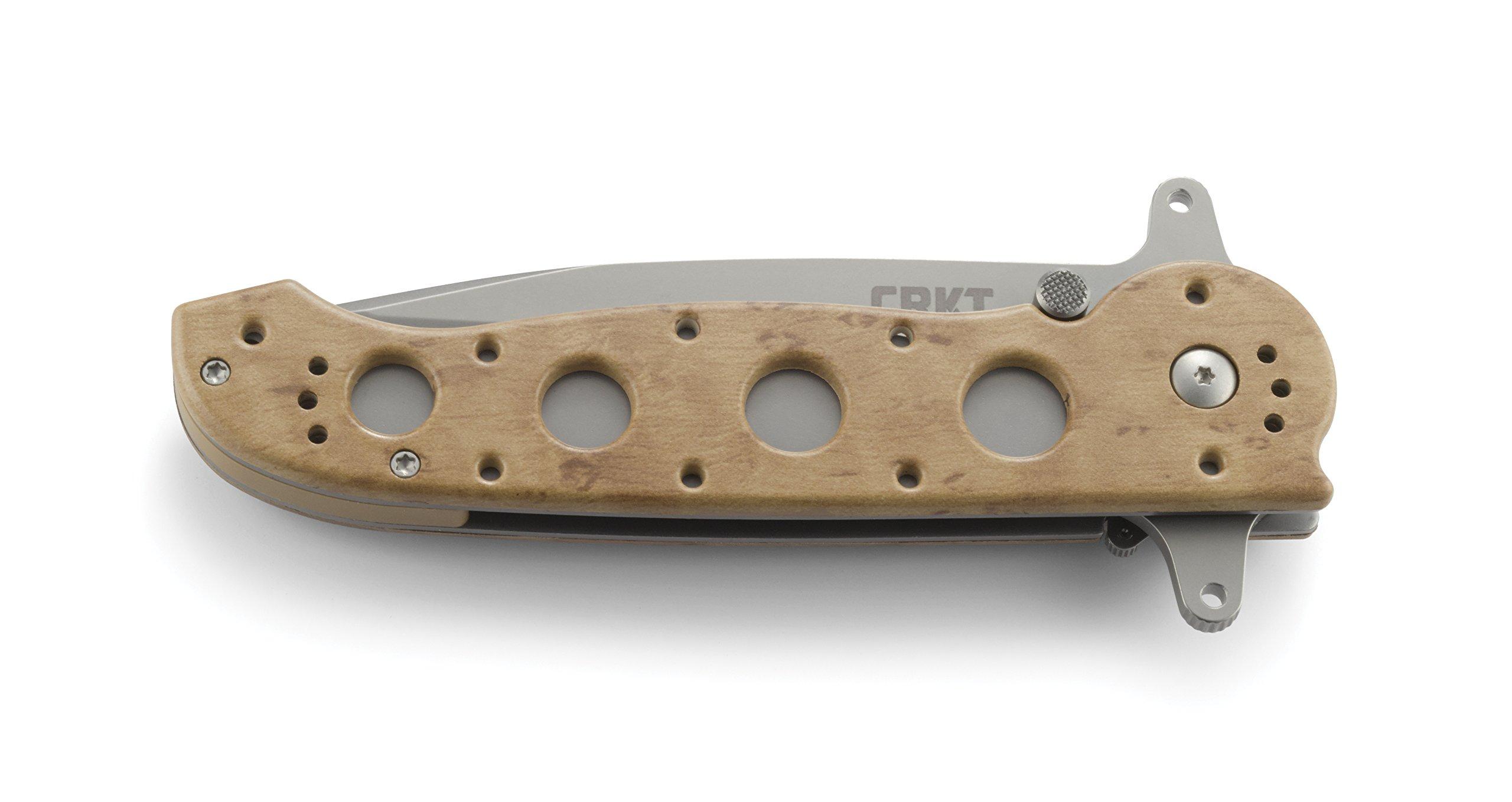 CRKT M16-14ZSF EDC Folding Pocket Knife: Everyday Carry, Serrated Edge Blade, Tanto, Automated Liner Safety, Dual Hilt, Desert Nylon Handle, 4-Position Pocket Clip
