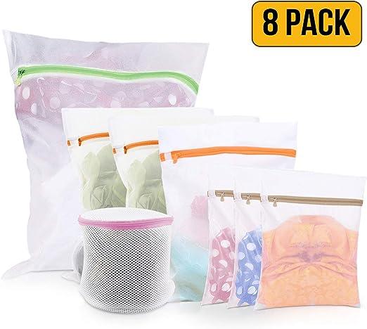Amazon.com: Bolsas de lavandería de malla – Pack de 8 (1 ...
