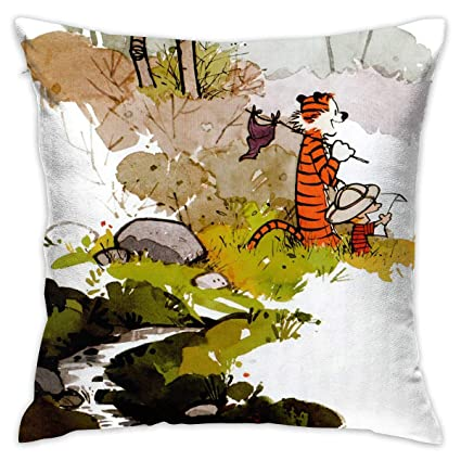 Amazon.com: Love Taste Calvin and Hobbes Throw Pillow Cover ...