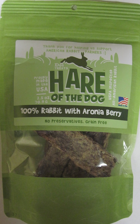 Hare of The Dog 100% Rabbit with Aronia Berry Dog Treats, 2.5 oz