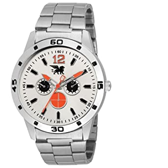 6641cbed4fa4 Buy CARLOS Fashionable Wrist Watch Black Dial Analog Silver Chain  Chronograph Wrist Watch for Men   Boys Online at Low Prices in India -  Amazon.in