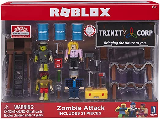 Roblox Zombie Song Video Amazon Com Roblox Zombie Attack Large Playset Toys Games