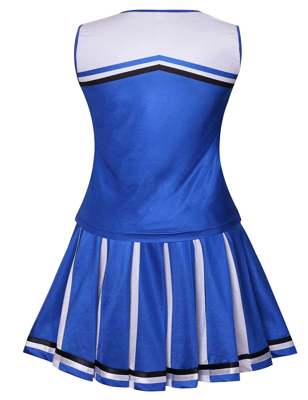 Colorful House Womens Cheerleader Costume Uniform Fancy Dress (Size L, Blue) by Colorful House (Image #3)