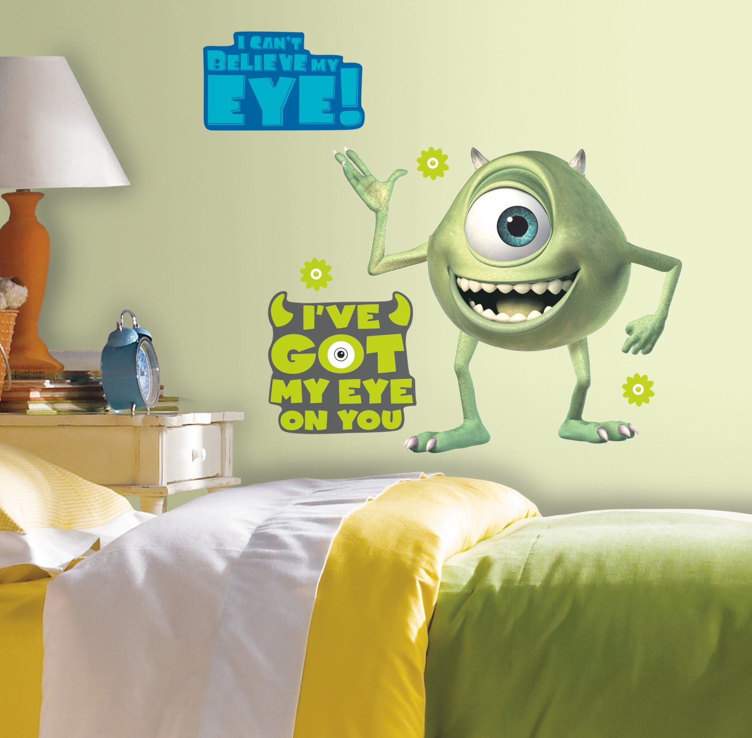Roommates Rmk2011Gm Monsters Giant Mike Wazowski Peel And Stick Wall ...