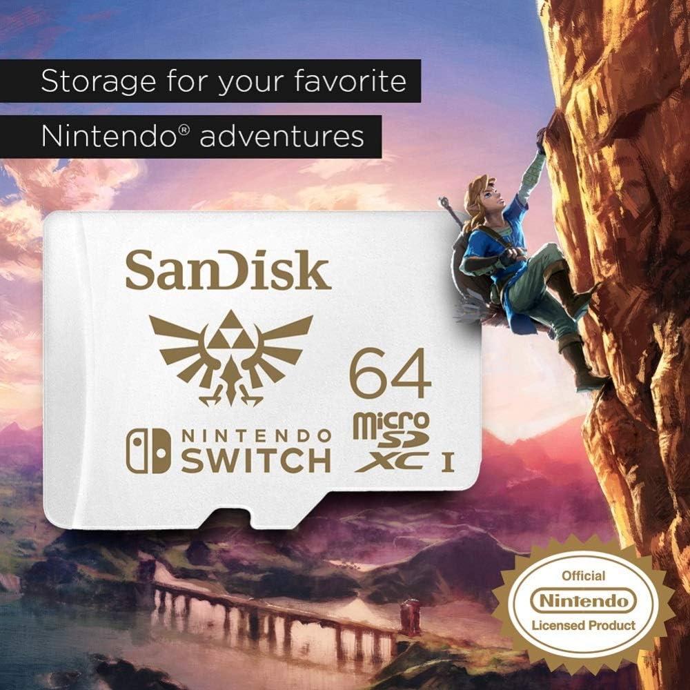 Tarjeta SanDisk microSDXC UHS-I para Nintendo Switch 64GB ...