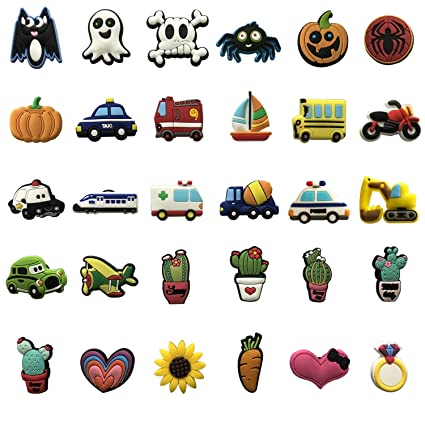 20+pcs Different Shape Shoes Charms Fits for Croc Shoes /& Wristband Bracelet Pa
