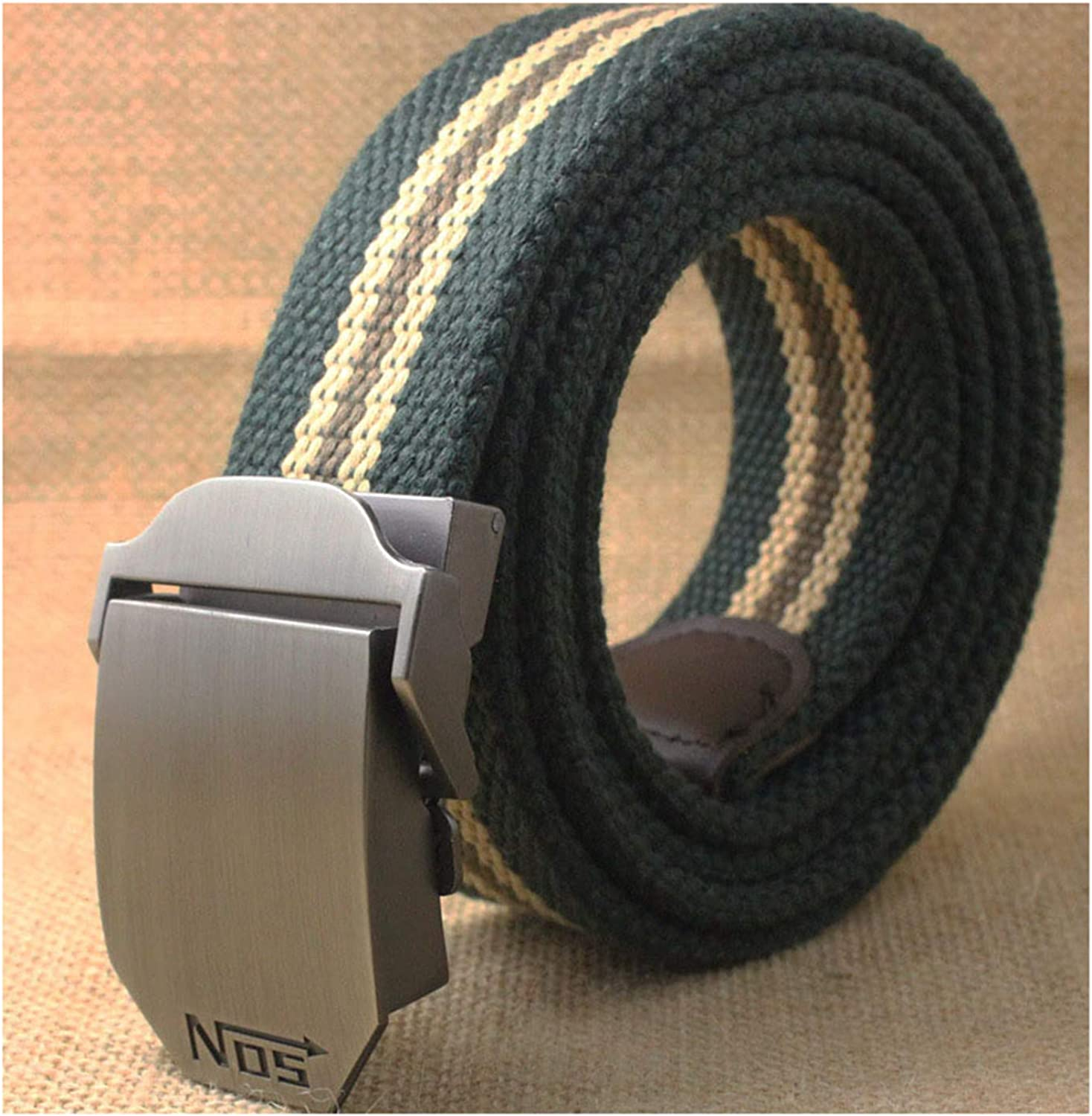 Belt Top Quality 4 Mm Thick 3.8 Cm Wide Casual Canvas Belt Outdoor Alloy Automatic Buckle Men Belt