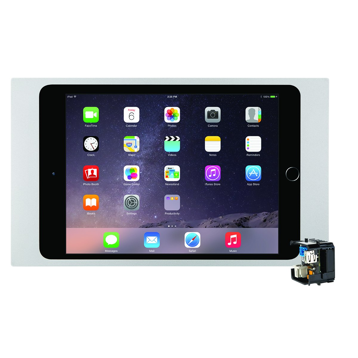 iPort 70735 Surface Mount System (Bezel for iPad Mini, 2 and Mini 3- Silver and PoE Splitter) by iPort (Image #1)