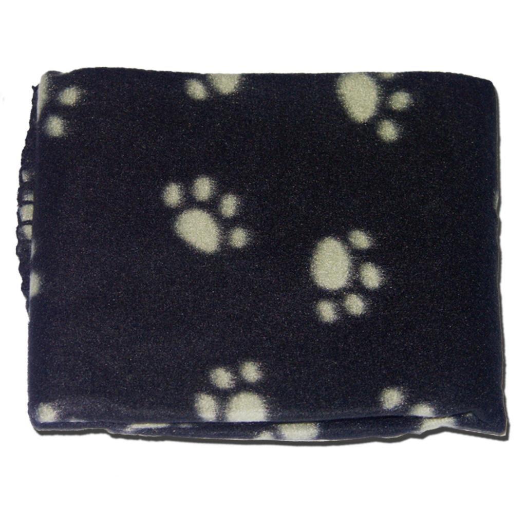 black soft cosy warm fleece paw print pet blanket dog puppy animal  - black soft cosy warm fleece paw print pet blanket dog puppy animal cat bedamazoncouk pet supplies