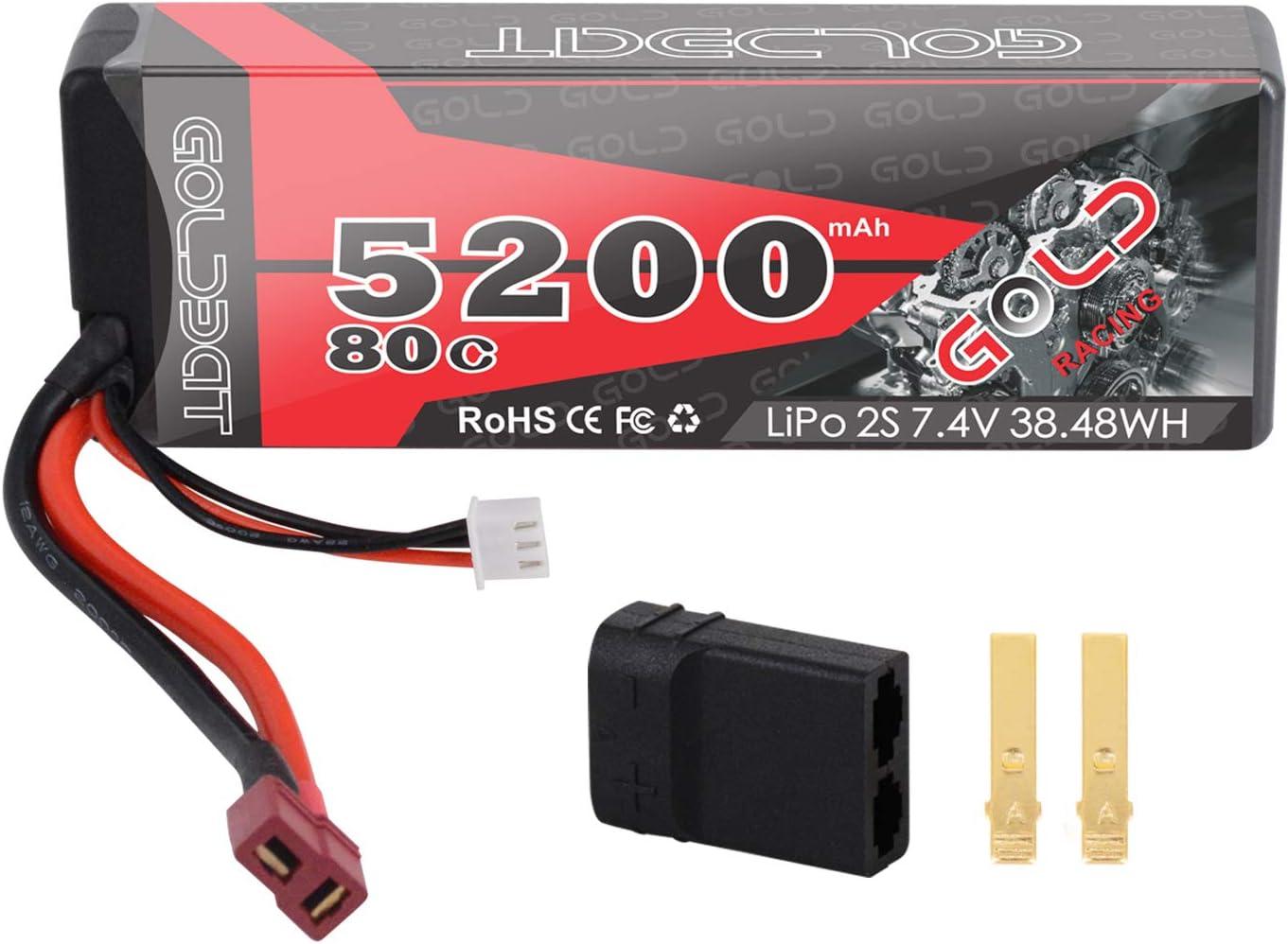 Bateria GOLDBAT 2S 5200mAh 7.4V 80C LiPo RC