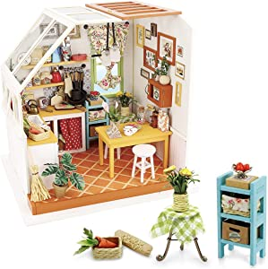 Rolife Miniature Dollhouse Kit, 1:24 Scale DIY Wooden Kitchen Mini House Furniture, Best Gift for Friends Lovers Family, Home docor