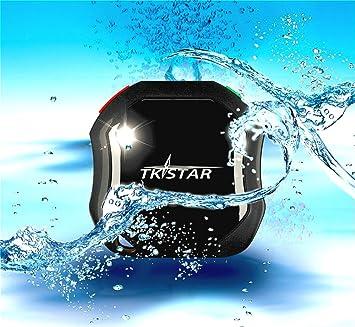 tkstar-waterproof GPS con SOS botón, Mini coche localizador ...