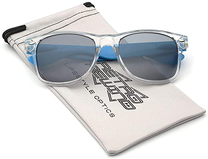 Sunglasses Clear Color Mirror Crystal Frame Lens Tone Two Translucent ZOXuPwkiT