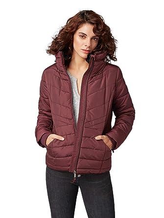 34a41e51e85cce TOM TAILOR für Frauen Jacken & Jackets Taillierte Steppjacke Dusty  Wildberry red, ...
