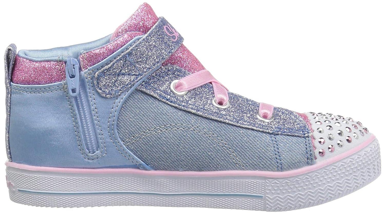 Sneakers high Blinkies SHUFFLE LITE DAINTY DENIMS für Mädchen, SKECHERS