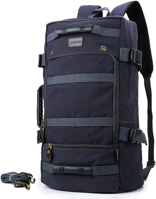Men/'s Vintage Outdoor Travel Hiking Backpack Canvas Rucksack Shoulder Laptop Bag