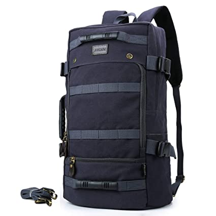 9f1295b6ab Amazon.com   XINCADA Backpack for Men Hiking Backpack Canvas Travel ...