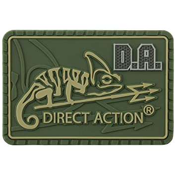 Direct Action Logo Parche Medio Oliva Verde: Amazon.es: Deportes y ...