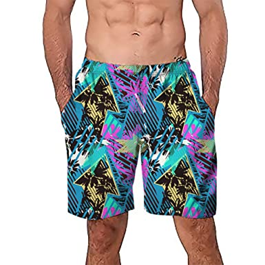 50361a44a1 aliveGOT Men's Summer Swim Trunks 3D Graphic Quick Dry Funny Beach Board  Shorts: Amazon.in: Clothing & Accessories