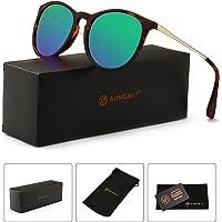 c68bb2a39d SUNGAIT Vintage Round Sunglasses for Women Classic Retro Designer Style
