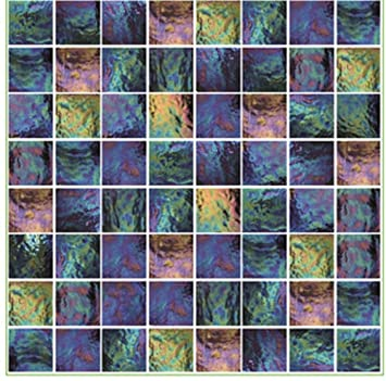 Pack Of 10 Purple Blue Pink Green Iridescent Effect Mosaic Tile Transfers  Sticker Bathroom Kitchen Stick Part 81
