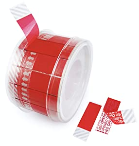 Tamper Evident Void Tape Security Proof Seal Red 480 Stickers Per Roll