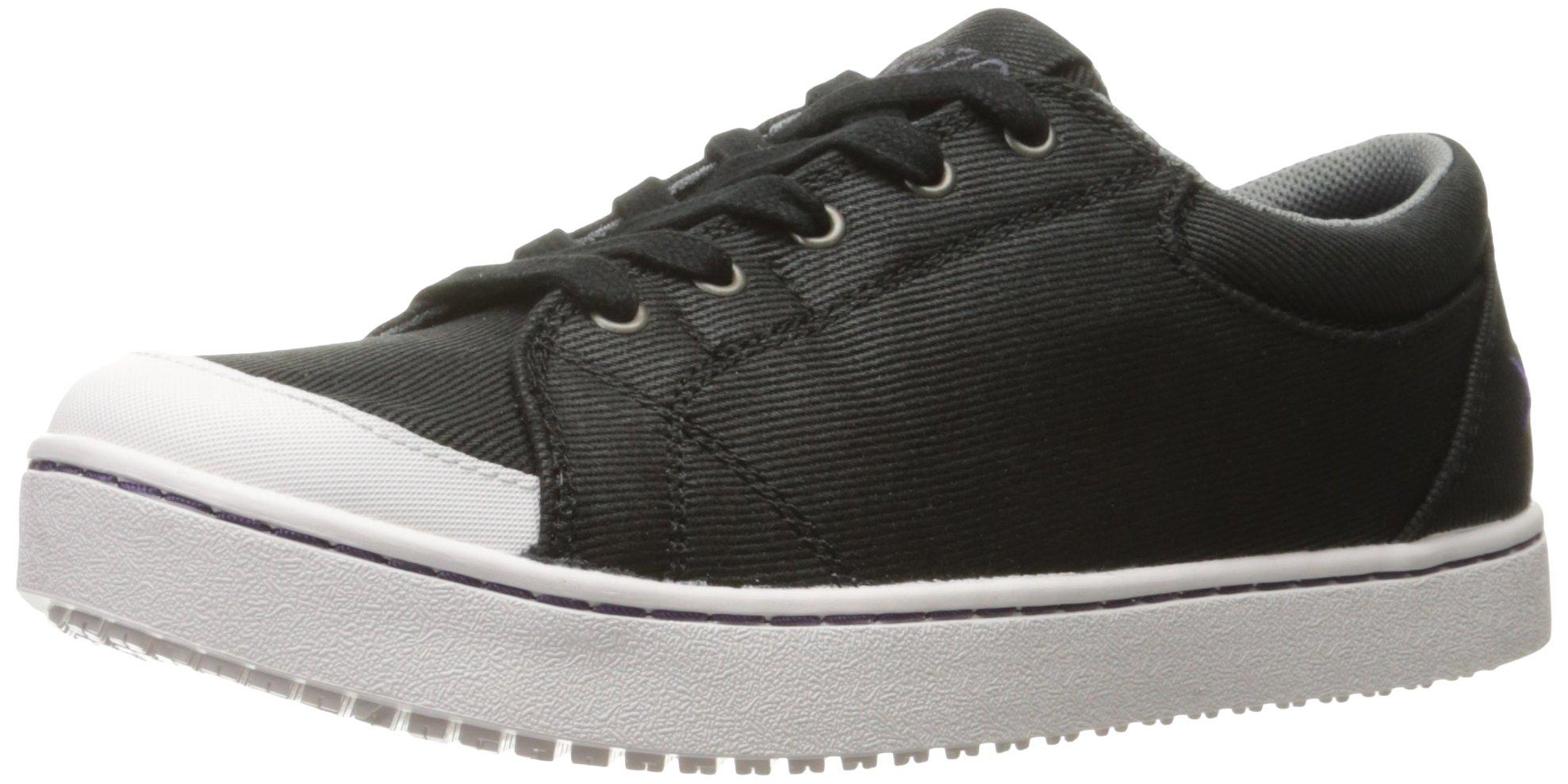 MOZO Women's Maven Food Service Shoe, Black/White, 9.5 B US