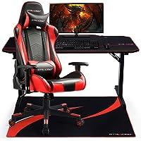 GTRACING Vloerbeschermingsmat Gaming stoelmat stoelonderlegger voor harde vloeren 110 x 90 cm rood